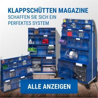 Klappschüttenmagazin