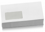 100 Umschläge DIN lang weiß haftklebend mit Fenster bei ZHS kaufen