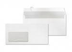 1000 Umschläge DIN lang weiß haftklebend mit Fenster bei ZHS kaufen