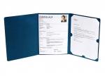 5 x Bewerbungsmappe 3-teilig blau mit Klemmschiene bei ZHS kaufen