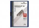 10 x Duraclip Klemmmappe bis 30 Blatt, blau bei ZHS kaufen
