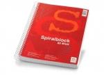 10 x Spiralblock A4, 80 Blatt, kariert mit Rand bei ZHS kaufen
