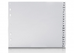 5 x Ordner-PP Register Taben A-Z grau bei ZHS kaufen