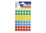 10 x Etiketten Punkte farb. sort. 12 mm - 240 STK bei ZHS kaufen