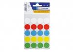 10 x Etiketten Punkte farb. sort. 19mm bei ZHS kaufen