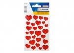 10 x Sticker rote Herzen - 1 Blatt bei ZHS kaufen