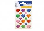 10 x Sticker Bunte Herzen - 3 Blatt bei ZHS kaufen
