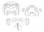 10 x Kindermasken Tiere zum Ausmalen 5er Set bei ZHS kaufen