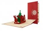 5 x Klappkarte Weihnachtspyramide bei ZHS kaufen