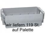 1 Palette Letterboxen, Postbehälter Gr. 1 grau ohne Deckel 12,6 Ltr