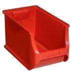 456281 Allit Sichtlager-Stapelboxen ProfiPlus Box 4H rot