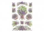 10 x Etiketten Blumen Veilchen