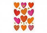 10 x Sticker Herzen