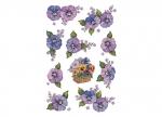 10 x Etiketten Blumen Stiefmütterchen