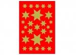 10 x Sticker Sterne gold
